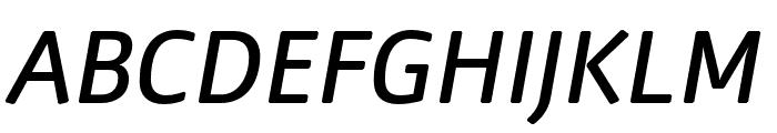 Nuvo Pro Medium Italic Font UPPERCASE