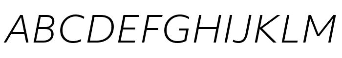 Objektiv Mk3 Light Italic Font UPPERCASE