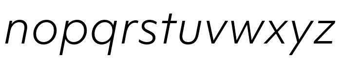 Objektiv Mk3 Light Italic Font LOWERCASE