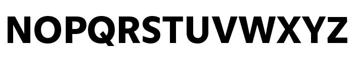 Obliqua Sans Bold Font UPPERCASE