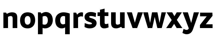 Obliqua Sans Bold Font LOWERCASE