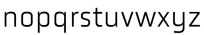 Obvia Expanded Light Font LOWERCASE