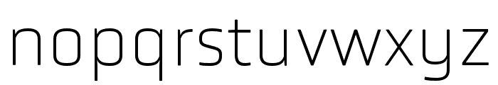 Obvia Expanded Thin Font LOWERCASE