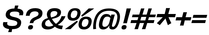 Obviously Compressed Medium Italic Font OTHER CHARS