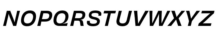 Obviously Condensed Medium Italic Font UPPERCASE