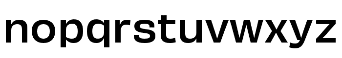 Obviously Extended Medium Font LOWERCASE