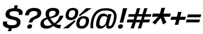 Obviously Narrow Medium Italic Font OTHER CHARS