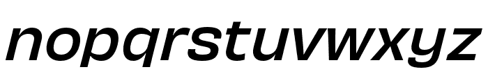 Obviously Wide Medium Italic Font LOWERCASE