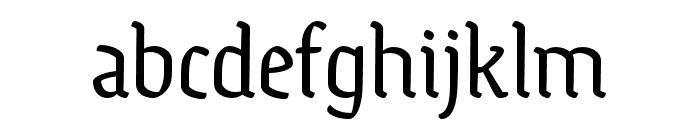 Ode Regular Font LOWERCASE