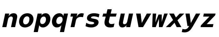 Odisseia Black Italic Font LOWERCASE