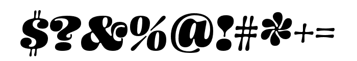 Ohno Blazeface 24 Point Italic Font OTHER CHARS