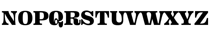 Ohno Fatface 12 Pt Condensed Font UPPERCASE