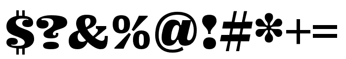 Ohno Fatface 16 Pt Compressed Font OTHER CHARS