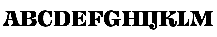 Ohno Fatface 16 Pt Condensed Font UPPERCASE