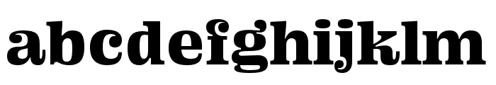Ohno Fatface 16 Pt Squished Font LOWERCASE