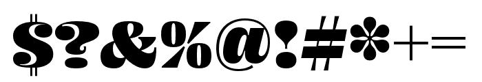 Ohno Fatface 24 Pt Condensed Font OTHER CHARS