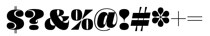 Ohno Fatface 36 Pt Condensed Font OTHER CHARS