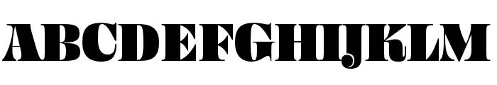 Ohno Fatface 36 Pt Condensed Font UPPERCASE