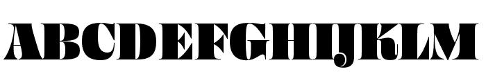 Ohno Fatface 48 Pt Narrow Font UPPERCASE