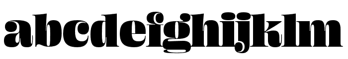 Ohno Fatface 60 Pt Condensed Font LOWERCASE