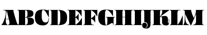 Ohno Fatface 60 Pt Narrow Font UPPERCASE