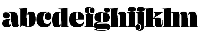 Ohno Fatface 60 Pt Narrow Font LOWERCASE