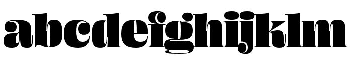Ohno Fatface 60 Pt Font LOWERCASE