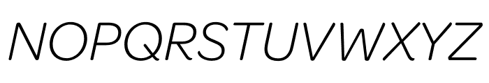 Omnes Cond Light Italic Font UPPERCASE