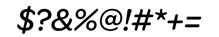 Omnes Medium Italic Font OTHER CHARS