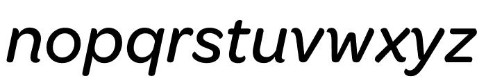 Omnes Medium Italic Font LOWERCASE