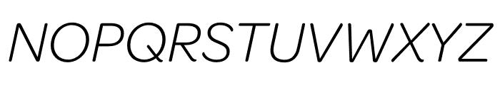 Omnes Narrow Light Italic Font UPPERCASE