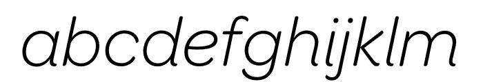Omnes Narrow Light Italic Font LOWERCASE