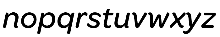 Omnes Narrow Medium Italic Font LOWERCASE