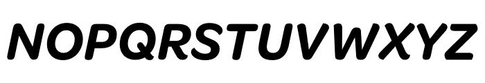 Omnes Narrow SemiBold Italic Font UPPERCASE