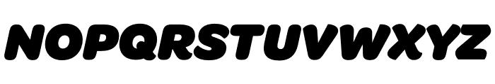 Omnes SemiCond Black Italic Font UPPERCASE
