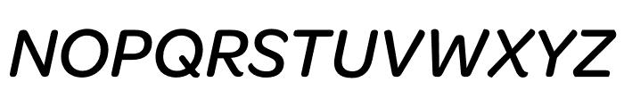 Omnes SemiCond Medium Italic Font UPPERCASE