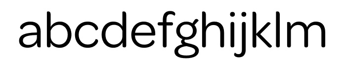 Omnes SemiCond Regular Font LOWERCASE