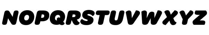 OmnesCyrillic Black Italic Font UPPERCASE