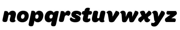 OmnesCyrillic Black Italic Font LOWERCASE