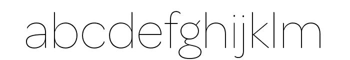 OmnesCyrillic Cond Thin Font LOWERCASE