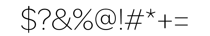 OmnesCyrillic ExtraLight Font OTHER CHARS