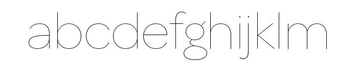 OmnesCyrillic Hairline Font LOWERCASE