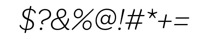 OmnesCyrillic Light Italic Font OTHER CHARS
