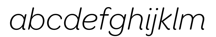 OmnesCyrillic Light Italic Font LOWERCASE