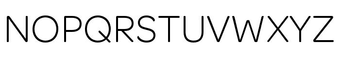 OmnesCyrillic Light Font UPPERCASE