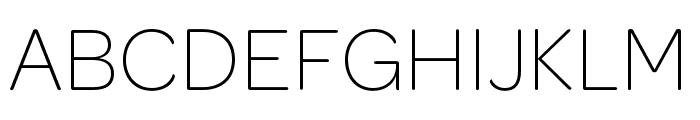 OmnesCyrillic Narrow ExtraLight Font UPPERCASE