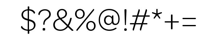 OmnesCyrillic Narrow Light Font OTHER CHARS