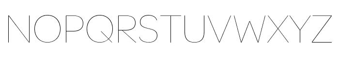 OmnesCyrillic SemiCond Hairline Font UPPERCASE
