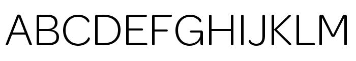 OmnesCyrillic SemiCond Light Font UPPERCASE
