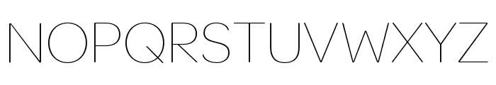 OmnesCyrillic SemiCond Thin Font UPPERCASE